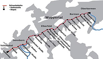 Wuppertal Suspension Railway - Stations
