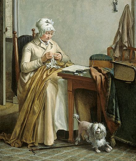Interior with Sewing Woman, c. 1800-1810 by Wybrand Hendriks Wybrand Hendriks - Interieur met naaiende vrouw.jpg