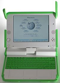 The XO-1 model laptop from the OLPC project