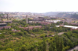 Yerevan Physics Institute - The view of the Yerevan Physics Institute