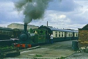 Derwent Valley Light Railway - Steam train at Layerthorpe in September 1977