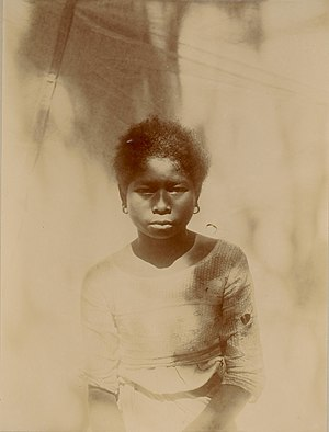 Aeta people - Young Aeta girl from Mariveles, Bataan, in 1901.