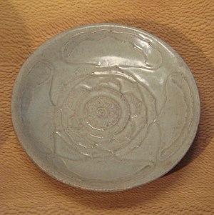 Yue ware - Yue plate, Zhejiang, 10th century.