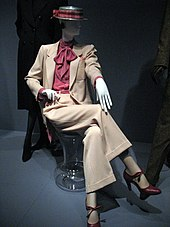 55548b6998d A lady's trouser suit by Yves Saint Laurent.