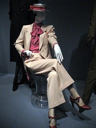 Yves Saint Laurent (designer) - A lady's trouser suit by Yves Saint Laurent.