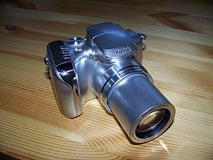 Kodak Z612 Zoom Digital Camera - Image: Z612 Lens at 12x Zoom