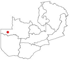 Location of Zambezi in Zambia