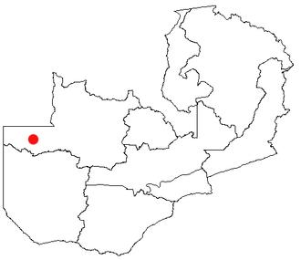 Zambezi, Zambia - Location of Zambezi in Zambia