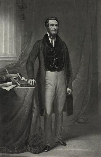 Zadock Pratt - A full-length portrait of Pratt that was engraved on steel in 1845.