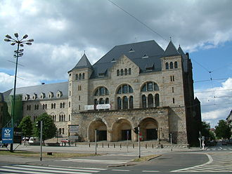 Imperial Castle, Poznań - Western, representative wing; its entrance was built during World War II