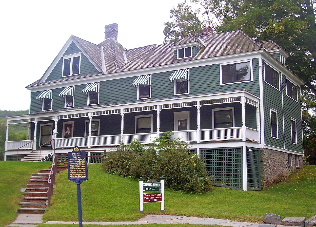File Zane Grey House Lackawaxen Pa Jpg Wikipedia