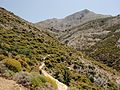 Zas Mountain with climbers seen on the path, Naxos Island, Greece.jpg