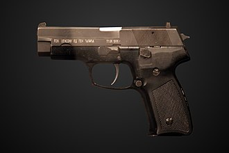 Mike Jackson (British Army officer) - Zastava CZ-99 pistol presented to General Sir Mike Jackson when commanding British troops in the ex-Yugoslavian theatre in the late 1990s. On display at the Parachute Regiment exhibition of the Imperial War Museum in Duxford.