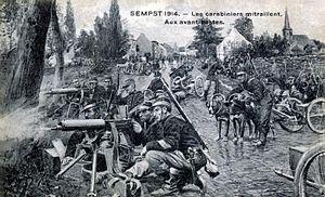 Battle of Buggenhout - Belgian troops in action near Antwerp in the summer of 1914