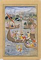 """Alexander is Lowered into the Sea"", Folio from a Khamsa (Quintet) of Amir Khusrau Dihlavi MET DT4792.jpg"