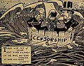 """""""CENSORSHIP"""" """"PUBLIC SENTIMENT"""" """"NATIONAL CENSOR"""" """"LOCAL CENSOR"""" """"STATE CENSOR"""" art by Holmet - Motion Picture Magazine (Feb-May 1916) (IA motionpicturemag111moti) (page 151 crop).jpg"""
