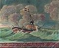 """""""Den Forønskede Fred"""" av Trondhjem havarerer utenfor Vestfrisland (1798).jpg"""