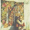 """The artist (Elena Postolachi) on carpets of Moldova"" (80th years). (5862623258).jpg"