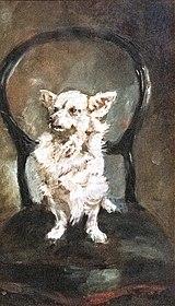 (Albi) Petite chienne blanche - Toulouse-Lautrec 1881 - Musée Toulouse-Lautrec MTL65.jpg