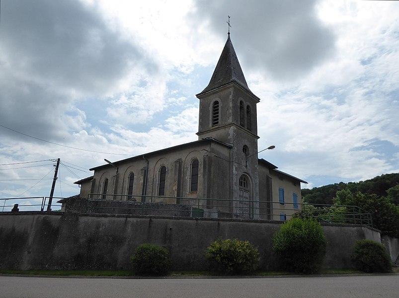 Église de Bratte en Meurthe-et-Moselle (France).
