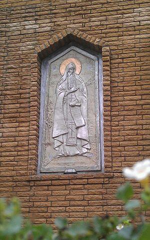Anthony of Kiev - Anthony sculpture in Lyubech by Gennadij Jerszow