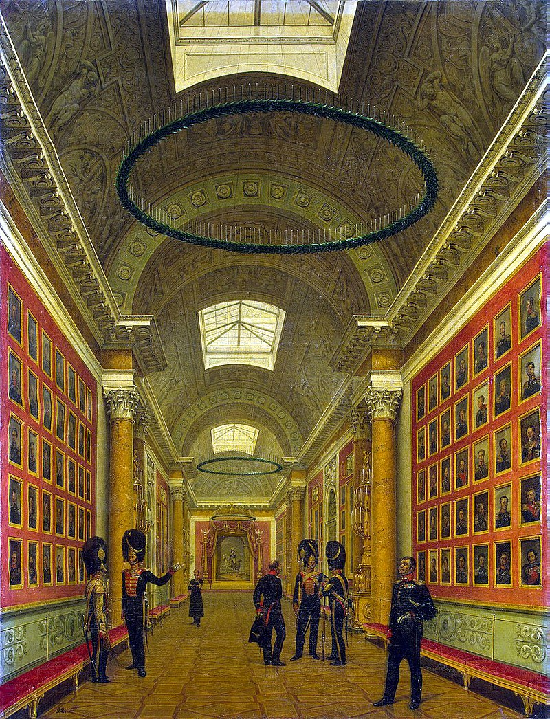 Виды залов Зимнего дворца. Военная галерея 1812 года.jpg