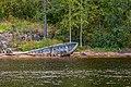 На Влаааме. Старая лодка на берегу.jpg