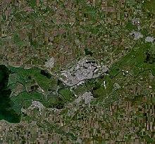 Вид на Ростов-на-Дону из космоса. Снимок NASA.