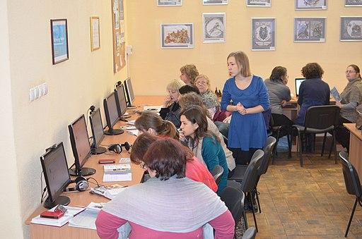 Хмельницький, тренінг у бібліотеці «Бібліотекарі ілюструють Вікіпедію», фото №21