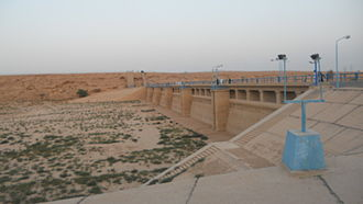 Wadi Hanifa - Al Elb Dam in Diriya Riyadh. It is a part of Wadi Haneefa project