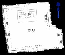 偃師二里頭遺址一號宮殿地基圖