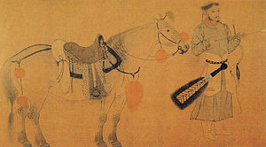 Liao dynasty - This painting, titled Horse and Archer, is believed to have been painted by Yelü Bei.