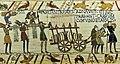 .Tapisserie de Bayeux 1066 1082 Chariot avec du vin et des armes.jpg