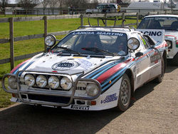 Rally 037 des Lancia-Martini-Werksteams