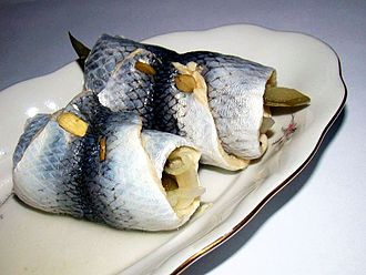 Wigilia - Rollmops; fish serving at Wigilia, important as non-red-meat offering