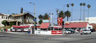 Beverly Boulevard - Original Tommy's at the corner of Rampart and Beverly Blvd.