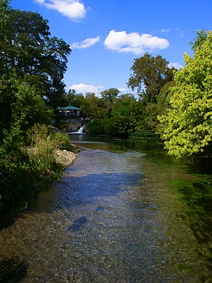 San Marcos River - The San Marcos River downstream from the San Marcos Springs