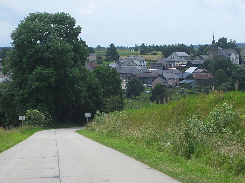 Laneuville (Belgique), panorama du village.