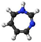 Ball-and-stick model of the 1,3-diazepine molecule