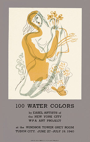 "1940 in the United States - June 27: ""100 Water Colors"" show by Federal Arts Project opens in New York City"