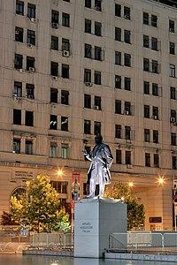 130 - Santiago - Statue de Arturo Alessandri Palma - Janvier 2010.jpg