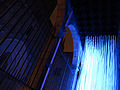 134 Llum BCN, instal·lació Neu Morta, porxo del Saló del Tinell, pl. Sant Iu.JPG