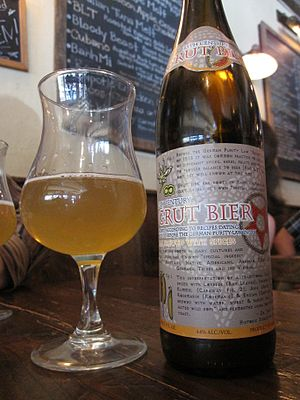 Gruit - Beer brewed after a 13th-century recipe using gruit herbs