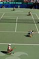 141100 - Wheelchair tennis Daniela Di Toro Branka Pupovac from above - 3b - 2000 Sydney match photo.jpg