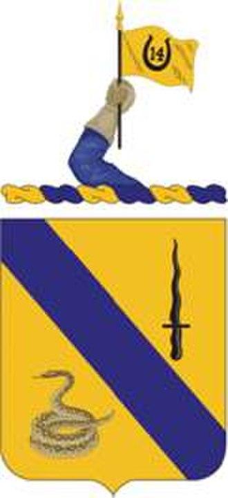 14th Cavalry Regiment - Coat of arms