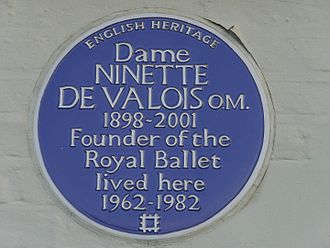 14 The Terrace, Barnes - Ninette de Valois blue plaque