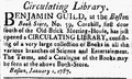 1787 BenjaminGuild BostonBookStore MassachusettsCentinel Jan6.png