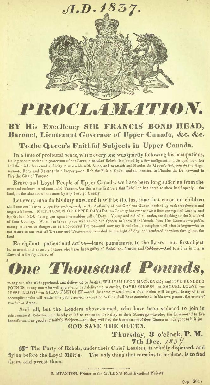 1837 Proclamation