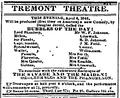 1842 TremontTheatre BostonDailyAtlas April4.png