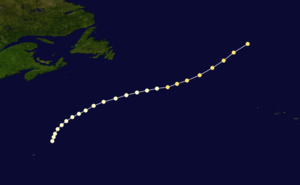 1861 Atlantic hurricane season - Image: 1861 Atlantic hurricane 3 track